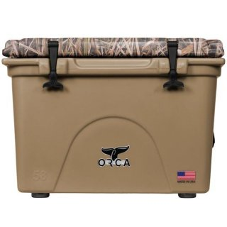 ORCA Coolers 58 Quart -MOSSY OAK BLADES Tan-