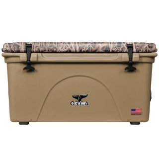 ORCA Coolers 75 Quart -MOSSY OAK BLADES Tan-