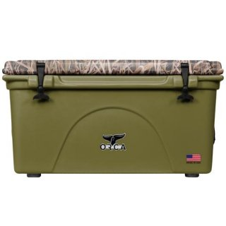ORCA Coolers 75 Quart -MOSSY OAK BLADES Green-