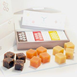 <お中元><スイーツ>ドルチェようかんワイキューブ(3種類セット) 120g×3種