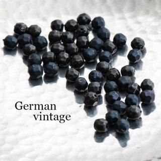 ドイツヴィンテージビーズ 多角形6ミリ 黒 20個  アクリルビーズ  ルーサイトビーズ