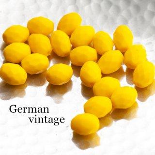 ドイツヴィンテージビーズ 多面カットオーバル 2個  ガラスビーズ  ランプワーク