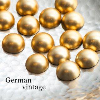 ドイツヴィンテージカボション ぷっくりマットゴールド 4個  ルーサイト
