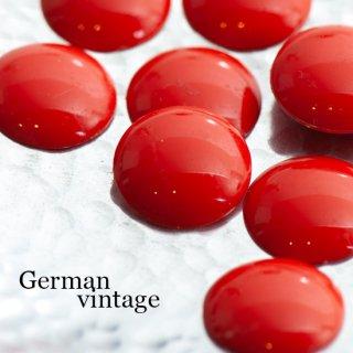ドイツヴィンテージカボション ラウンド 赤 2個  ルーサイト