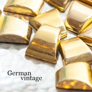 ドイツヴィンテージカボション 台形 ゴールド 2個  ルーサイト