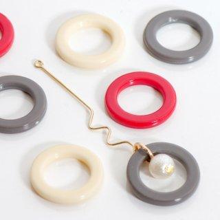 【アウトレット品】アクリル穴なしリング フープ コネクター
