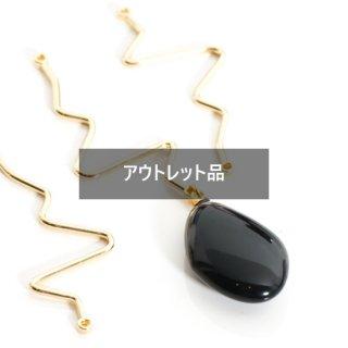 【B品】ジグザグコネクター ゴールド 10個 メタルパーツ チャーム W9ピン スティック