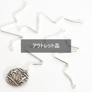 【B品】ジグザグコネクター シルバー 10個 メタルパーツ チャーム W9ピン スティック