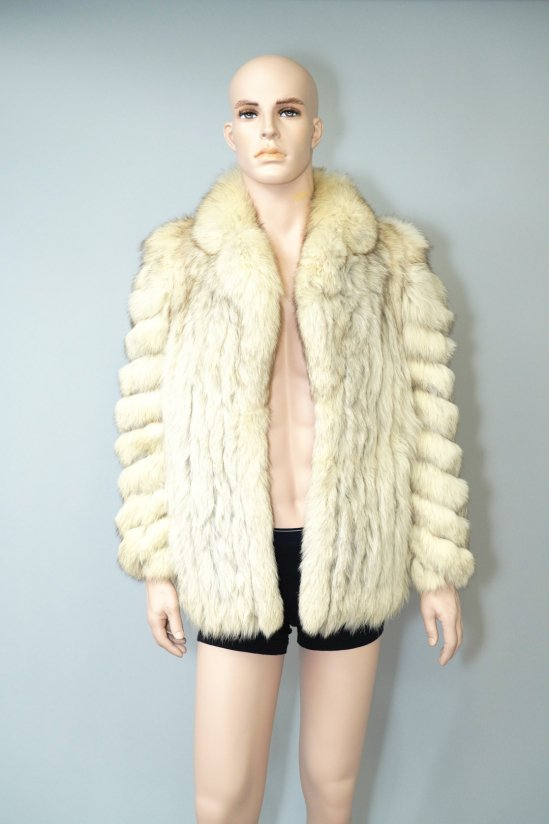 Vintage Saga Fox White Fur Coat