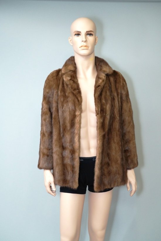 Vintage Saga Mink Brown Fur Coat