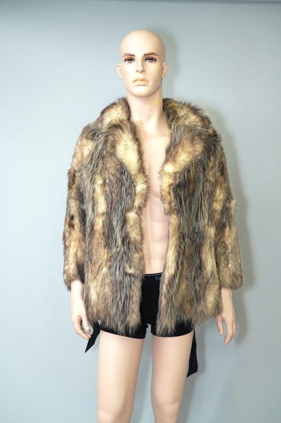 Vintage Genuine Brown Fur Coat