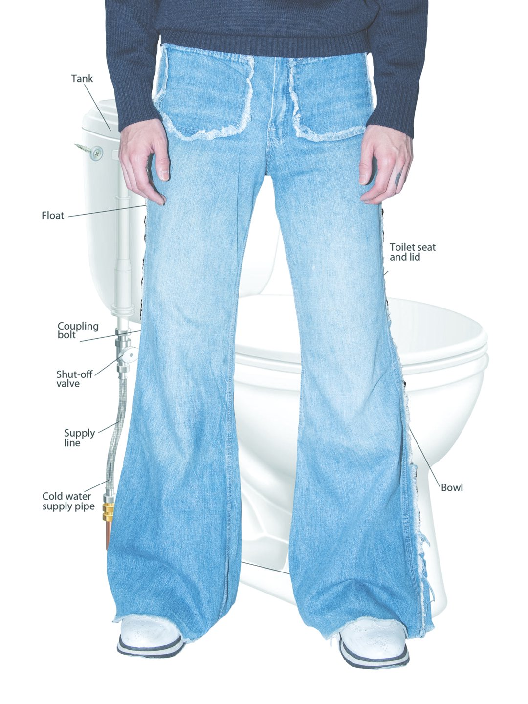 Vintage Duck Head Flare Jeans