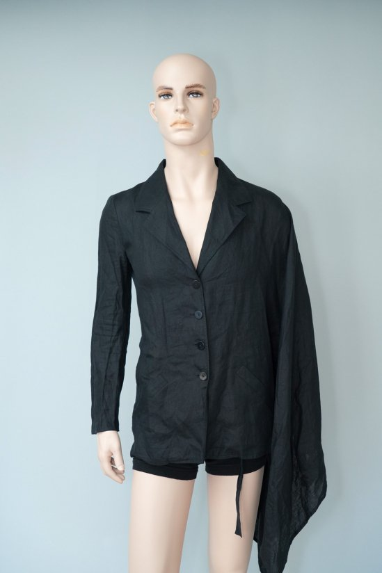 Vintage Fendi Linen Asymmetry  Jacket