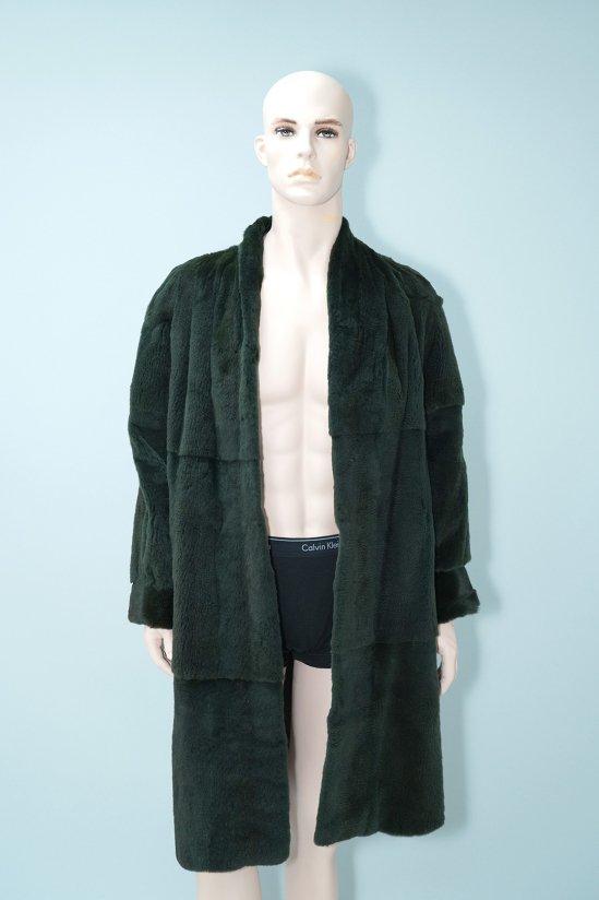Vintage Emba Green Sheared mink Fur Long Coat