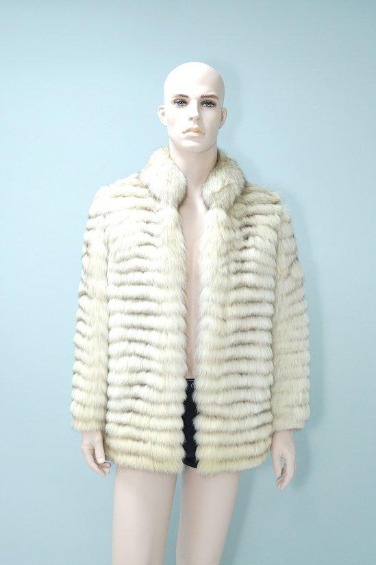 Vintage White Genuine Fur Coat