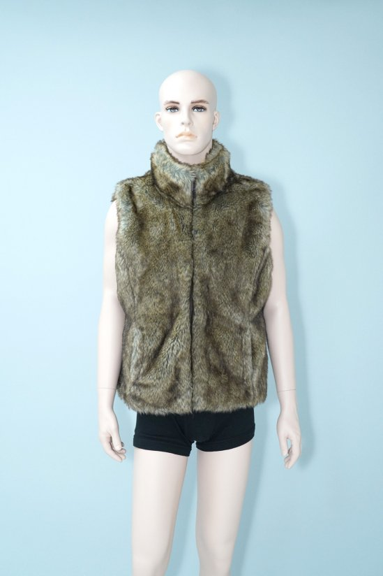 Vintage Faux Brown Fur Vest