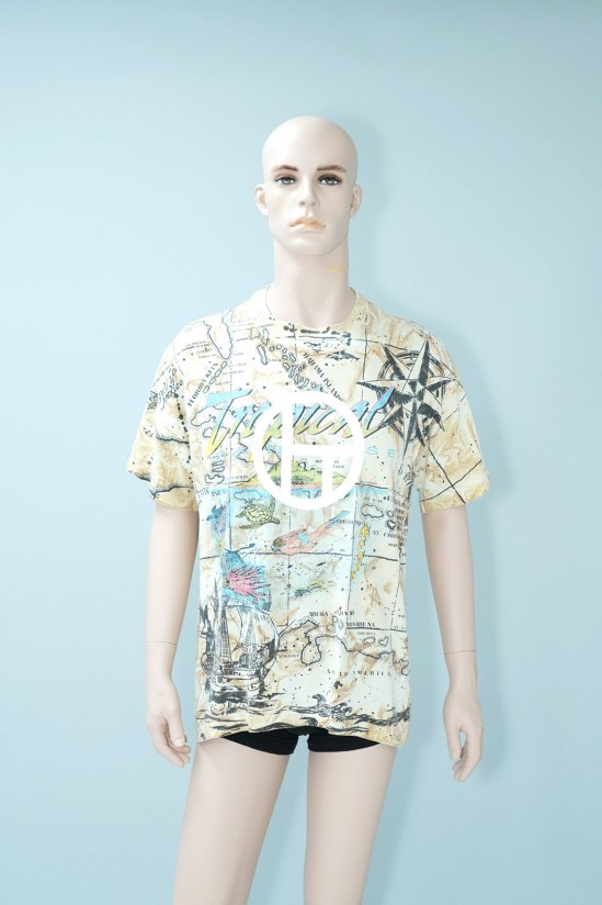 Dogs Recycle Tropical Pradaise Tie-Dye T-shirt