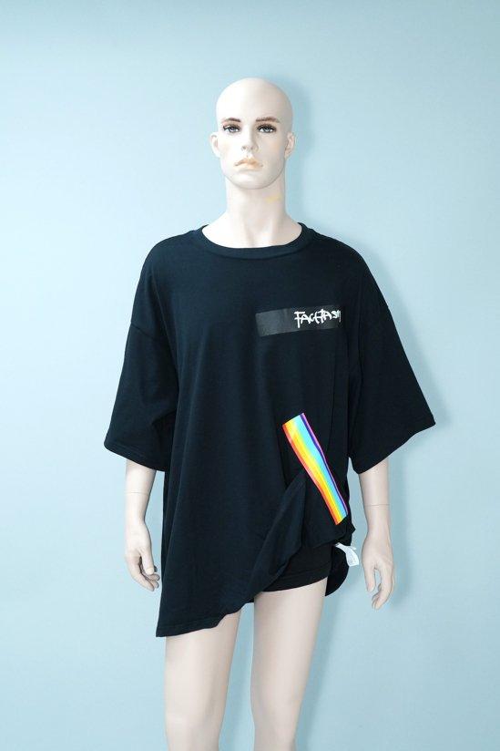 FACETASM Dogs Rainbow Gum Tape T-Shirt