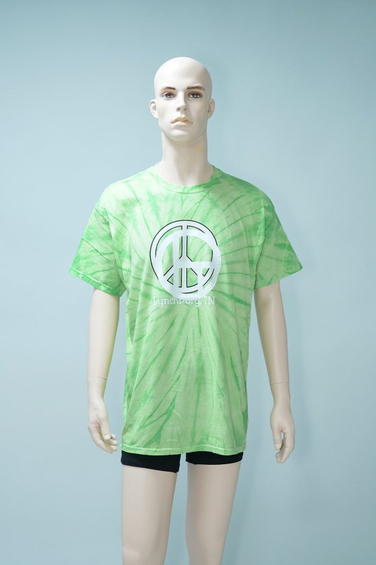 Dogs Recycle Tie-Dye Peace Symbol T-Shirt