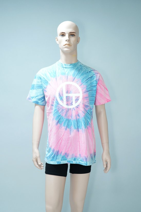 Dogs Recycle Tie-Dye T-Shirt (Pink)