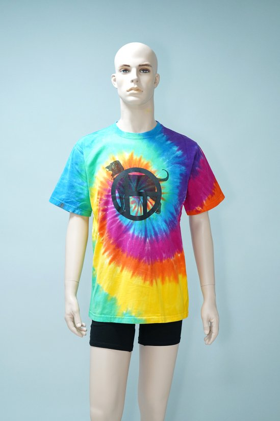 Dogs Recycle Tie-Dye Dog T-Shirt