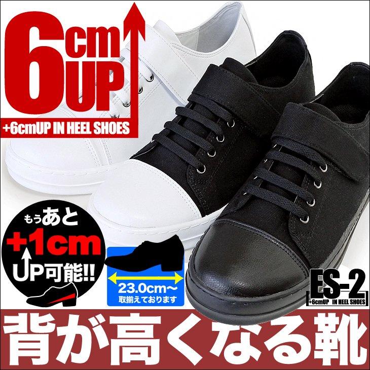 【全3色】シークレットスニーカー 6cmUP 23cm〜 es-2【カスタマイズ対応】