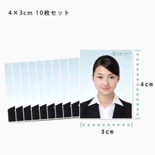 【10枚セット】4×3(履歴書用)…10枚