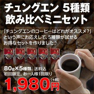 【送料無料】チュングエン ベトナムコーヒー5種類飲み比べミニセット