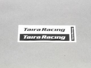 【TairaRacing】タイラレーシングロゴステッカー(ブラック)