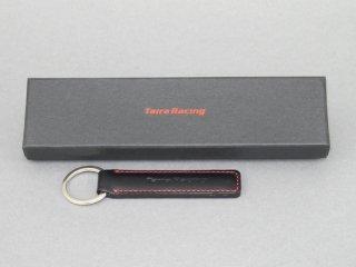 【TairaRacing】タイラレーシングオリジナル本革製ロゴ入りキーホルダー(黒)