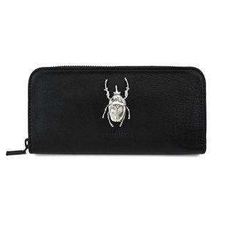昆虫付き 牛革長財布