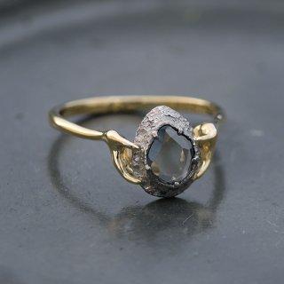 【1点物】ブラックダイヤモンド K18リング