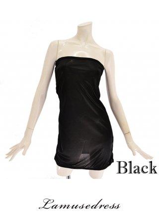 【M-5L】アンダードレス 黒 透明ストラップ付 インナー/ラミューズドレス通販