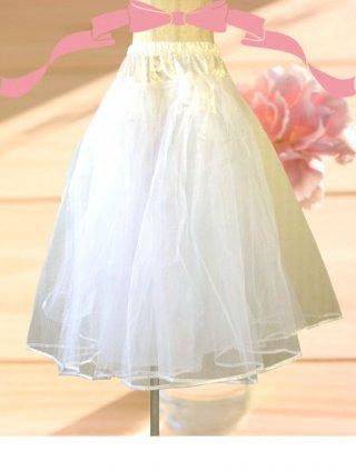定番 プリンセスライン♪ロングドレス用 パニエ / 白 / ラミューズドレス通販