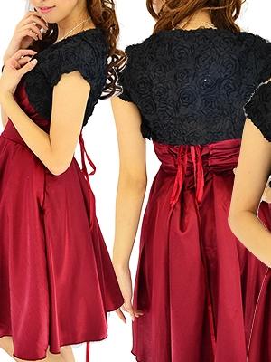 M/L ふんわり薔薇のボレロ/ 黒 057 演奏会 ラミューズドレス通販