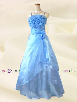 薔薇のカラードレス ライトブルー 5760/演奏会 ラミューズドレス通販