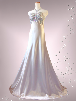 ラグジュアリーベアトップドレス シャンパン ゴールド 9-267/ 金 演奏会 ラミューズドレス通販
