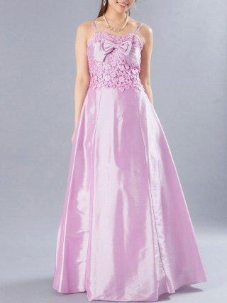 お得なパニエセット☆ワルツ ピンク  ロングドレス 0305/ 演奏会 ラミューズドレス通販