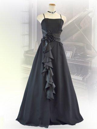 幻想的ブラックのロングドレス2090/ 黒 /オーケストラ   ラミューズドレス通販