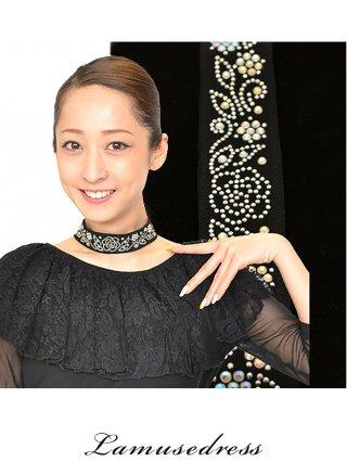 薔薇のブラックチョーカー/演奏会アクセサリー ラミューズドレス通販