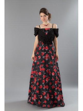 【Lサイズ】大人の薔薇姫ドレス ロングドレス 4111/演奏会・ラミューズドレス通販