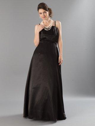 【Lサイズ】カクテルロングドレス/ブラック 5562 / オーケストラ・伴奏/演奏会  ラミューズドレス通販