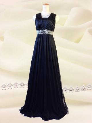 3wayのシンプルロングドレス 黒/ 2230 / 演奏会 ラミューズドレス通販