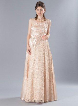 ダマスクレース*ゴールドロングドレス 3319演奏会 ラミューズドレス通販