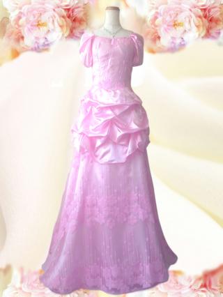 シンデレラ ピンク*ロングドレス 3161/ラミューズドレス通販