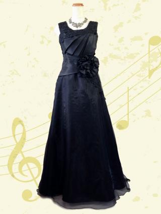 ロンディーノ・ブラックロングドレス/オーケストラ7044 伴奏 演奏会 ラミューズドレス通販