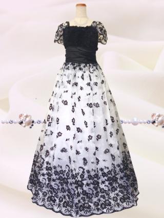 ブラックローズ プリンセスドレス ホワイト6518/演奏会・ラミューズドレス通販