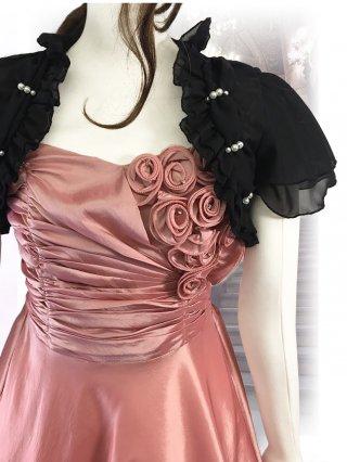●パールラインのボレロ1529/ 黒 演奏会 ラミューズドレス通販