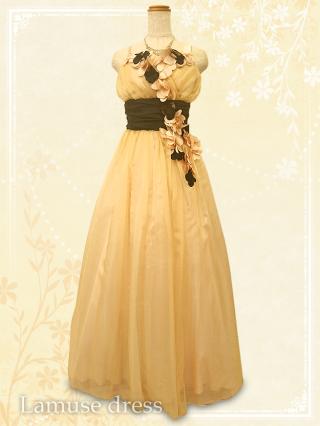 ○マーガレット ドレス ゴールドベージュ 6037/演奏会 ラミューズドレス通販
