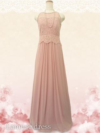 フィオラ・ピンク  ロングドレス8474/ 演奏会 ラミューズドレス通販